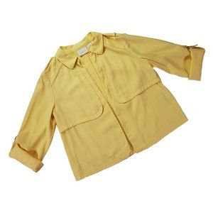 Chico's Yellow Open Front Blazer size 0